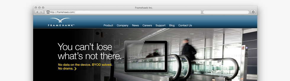 screenshot of Framehawk home page