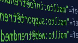 artistic screenshot of html email code
