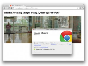 screenshot: jquery infinite loop in chrome